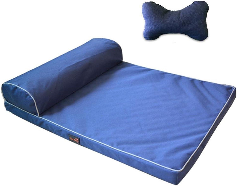 Desti Flakes Pet Bolster Dog Bed Comfort Dog Litter Cushion Washable pet Sleeping Mat (color   D)