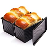 CHEFMADE Loaf Pan 2 Pcs, Non-Stick Bread Pan...