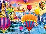 ZXCVASD Rompecabezas para Adultos, Juegos de Rompecabezas para la Familia, Rompecabezas de cartón, Juegos educativos, Rompecabezas de desafío Cerebral para niños - Balloon Valley-1000 Pieces