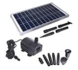 Solariver Solar Water Pump Kit - 360+GPH Submersible Pump with Adjustable Flow, 20 Watt Solar Panel for Sun Powered Fountain, Pond Aeration, Hydroponics, Aquaculture (No Battery Backup)
