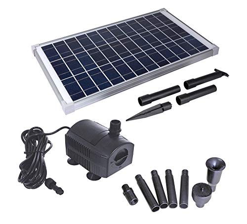 Solariver Solar Water Pump Kit – 360+GPH Submersible Pump with Adjustable Flow, 20 Watt Solar Panel for Sun Powered Fountain, Pond Aeration, Hydroponics, Aquaculture (No Battery Backup)