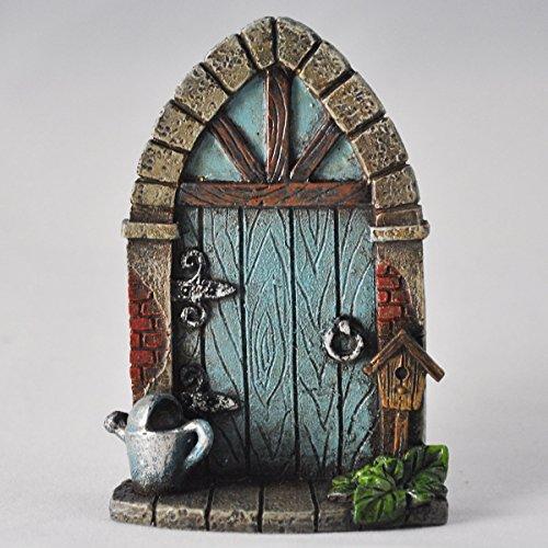 Porta in miniatura per folletti, elfi e fate, decorazione da giardino, 9 cm