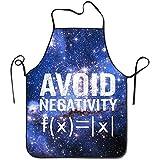 Myrdora Evita negatività Divertenti grembiuli da cucina per Chef di cucina matematica con pettorina regolabile nera