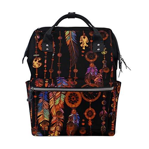 Ahomy - Bolso cambiador de pañales, diseño tribal de atrapasueños, estilo bohemio, mochila escolar ligera para hombres y mujeres