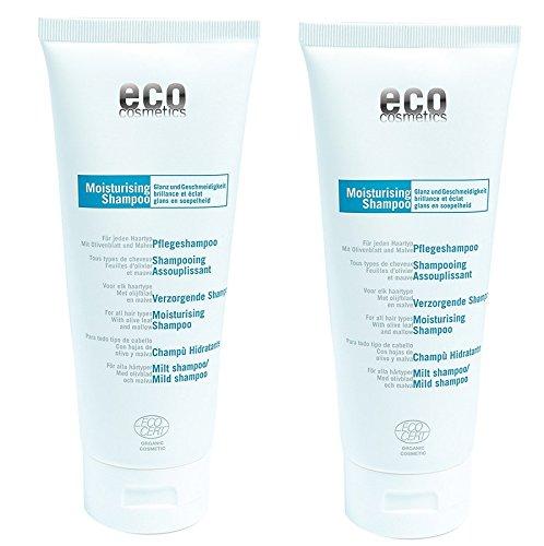 Eco Pflege-Shampoo mit Olivenblatt und Malve, für strapaziertes Haar, 2 x 200ml