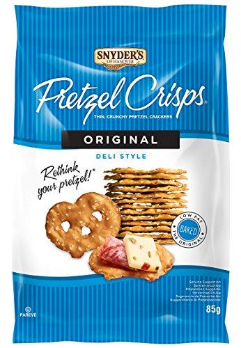 Snyder's Of Hanover, Deli Style Pretzel Crisps - All Natural, Baked, Original Flavour - 85g Pack of 8, Crunchy Pretzel Cracker