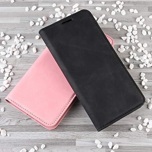 Haoye Passend für Huawei P40 Pro Hülle, hat Magnet-Adsorption-Fähigkeit Premium PU Leder Handyhülle. Schwarz - 3