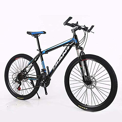 L&WB Adult Mountain Bikes 26-Inch Steel Carbon Mountain Trail Bike High Carbon Steel Full Spring Frame Bicycles,A,24speed