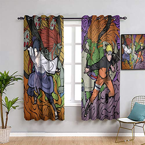 Elliot Dorothy - Cortinas decorativas con ojales, 84 x 84 cm