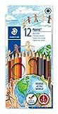 Staedtler Noris Club Menschen der Welt Bleistift–Farbe sortiert (12Stück)