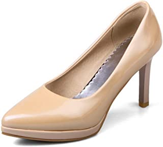 BalaMasa Womens APL12090 Leather Stiletto Heels