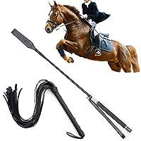 馬用ムチ 乗馬用 短鞭 乗馬用品 馬鞭 レザー コスプレ用 むち 軽量 快適(2枚)