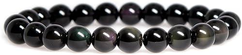 Rock Stone Gem Semi Precious Crystal Gemstone 6mm Round Beads Crystal Stretch Bracelet 7 Inch