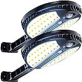 Luces Al Aire Libre Servicio Sensor De Movimiento Sensor De Seguridad Luz Inalámbrica Lámpara De Pared Potente Con Control Remoto Ip65 Impermeable, para Patio / Escaleras / Camino De Entrad(Size:2PCS)