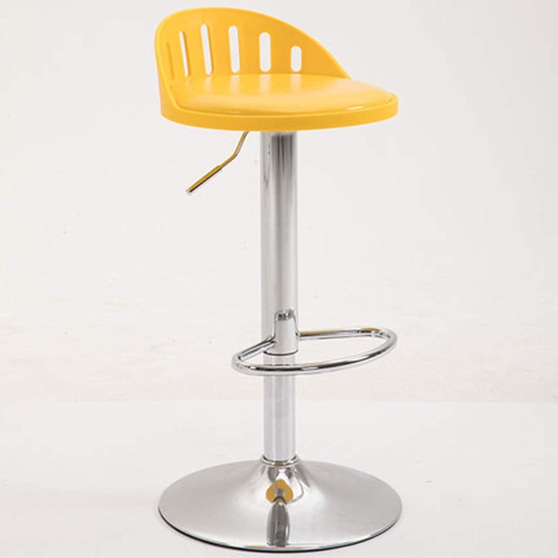 XINGPING Modern Minimalist Nordic Bar Chair Lift Chair Bar Table and Chairs Home Bar Stool Bar Chair redating High Stool (color   Yellow)
