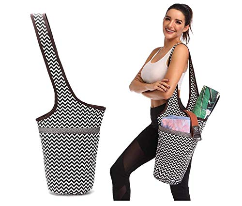 Kokiri - Yoga Mat Bag - Yoga Mat Tote Sling Carrier for Women - Yoga Mat Carrier, Fit Most Size Mats with Large Side Pocket & Zipper Pocket - Yoga Bags & Carriers Fits All Your Stuff from Pink Shooting Star Inc