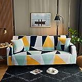 WXQY Sillón de Sala de Estar Funda de sofá Impresa de Estilo nórdico, Funda de sofá Todo Incluido geométrica Creativa Antideslizante A11 1 Plaza
