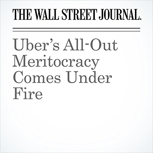 Uber's All-Out Meritocracy Comes Under Fire copertina