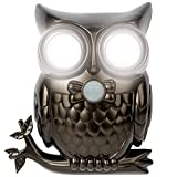 IdeaWorks JB7682 Decorative LED Motion Sensor Hooting Owl Light, Gray, Black