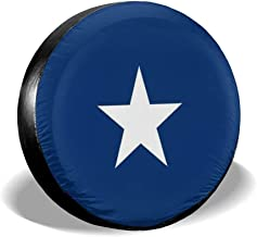 LNC 01P Confederate Bonnie Blue Nylon Flag Spare Tire Type Cover, Tire Cover Lig, Rain and Sun Away from Your Spare Tire