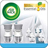 Air Wick Plug in Scented Oil Starter Kit, 2 Warmers + 6 Refills, Fresh Linen, Same Familiar Sme…