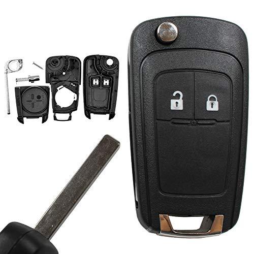 KONIKON Autoschlüssel Klappschlüssel Schlüssel Auto Ersatzgehäuse Key Shell Key case Blade Neu passend für Opel Astra J Corsa E Meriva B Insignia