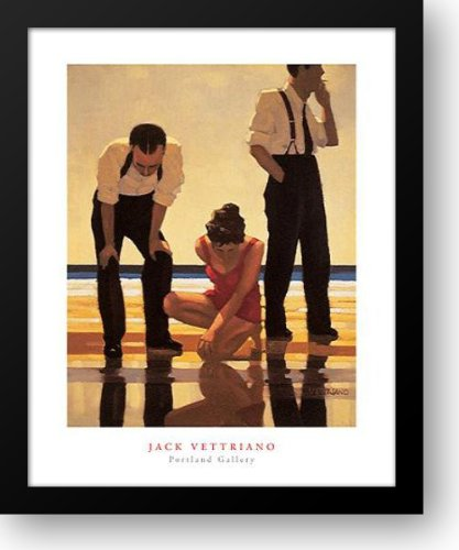 Narcissistic Bathers 20x24 Framed Art Print by Vettriano, Jack