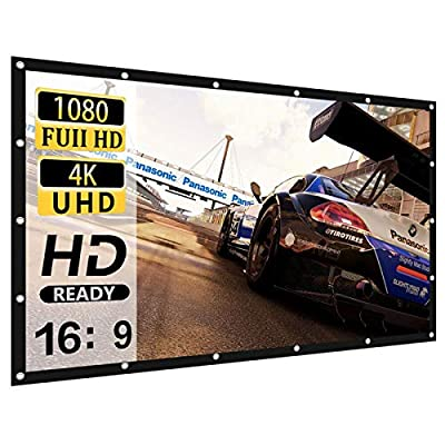 Projector Screen 120 inch 16:9 HD 4K Movies Scr...