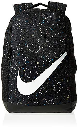Nike Y Nk Brsla Bkpk Aop Ho19 Sac à dos unisexe pour enfant Taille unique Noir/noir/blanc