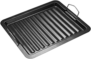 Escolourful BBQ Non-stick Plate, Griddle Plate Pan Barbecue Griddle Pan Non Stick Frying Plate for Outdoors Travel Camping, 30 25cm
