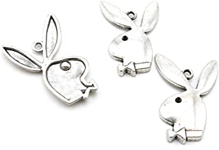 5 PCS Jewelry Making Charms X8KR0U Playboy Rabbit Antique Silver Tone Necklace Bracelet Repair Bulk Lots Pendant Findings