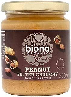 Biona Organic Peanut Butter Crunchy (free from Palm Fat) - 250g