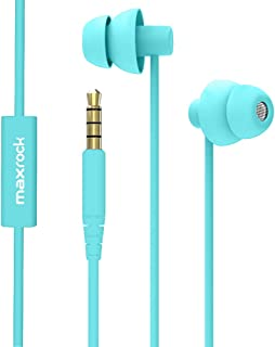 MAXROCK Sleep Earplugs - Noise Isolating Ear Plugs Sleep Earbuds Headphones with Unique Total Soft Silicone Perfect for Insomnia, Side Sleeper, Snoring, Air Travel, Meditation & Relaxation (acid blue)