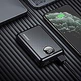 YWTESCH 10000mAh Batterie Externe, Chargeur Portable de Poche à Chargement Rapide avec Affichage Numérique à LCD, 2 Sortie USB et 1 Entrée de Micro, Une Câble de Micro.