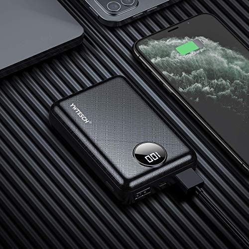 YWTESCH 10000mAh Power Bank, Batería ExternaCargador Portátil de Bolsillo de Carga Rápida Portátil con Batería Externa con Pantalla Digital LCD Compatible con iPhone, Samsung, Huawei, iPad y más.