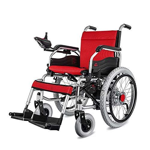 Inicio Accesorios Silla de ruedas eléctrica para personas mayores discapacitadas, liviana, de doble función (batería de litio de 12 Ah), con accionamiento eléctrico o usada como silla de ruedas man