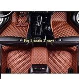 MYlnb Para Landrover Evoque Discovery Sport Range Rover Velar Discovery 3/4/5 Freelander 2, Alfombrilla de Cuero Personalizada