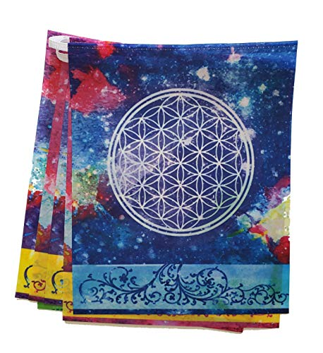 Buddhadoma Cosmic Harmony Sacred Geometry Prayer Flags