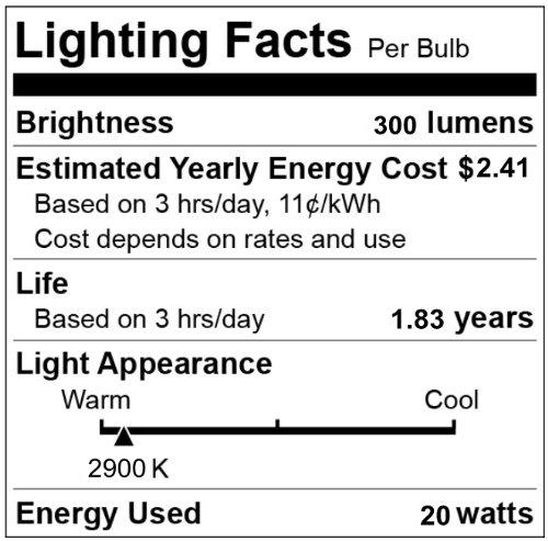 CBconcept 10XG412V20W G4 JC Halogen Light Bulb,20-Watt,12-Volt, 10 Bulbs