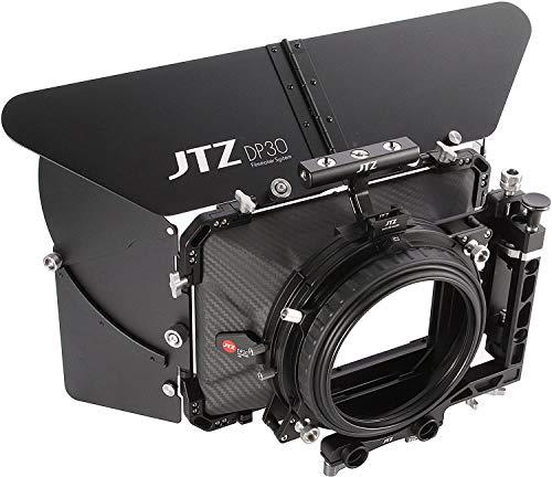 Foto4easy Carbon Fiber Matte Box,JTZ DP30 4x5.65 Swing-Away Matte Box with 15mm/19mm Rod Rail Rig for Sony FS5 FS7 ARRI RED Canon C100 C200 C300 Blackmagic BMPCC BMCC Pocket Cinema Panasonic Camera