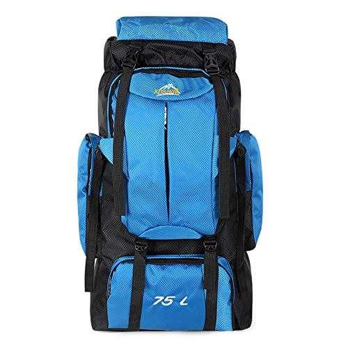 75L Hiking Backpack Hiking Internal Frame Backpack With Rain Cover,Waterproof Rucksack For Men,Suitable For Hiking, Traveling And Camping;