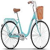 MOME ARoad Bike 24 pulgadas bicicleta de mujer bicicleta de aleación de aluminio cruiser bicicleta adopta el sistema de transmisión, la transmisión es estable y clara, y la mano se siente cómoda