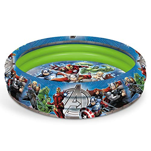 Marvel Mondo Spa 16609 Piscine Gonflable Avengers Diametre 100CM150, Multicolore, 20, 5000 x 5, 0000 x 28, 5000 cm