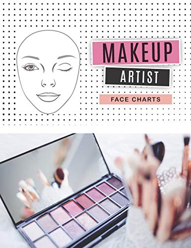 Makeup Artist Face Charts: facechart makeup book   Blank Paper Practice Face Chart Accessory For Professional Makeup and Student (Makeup Chart Practice Paper)