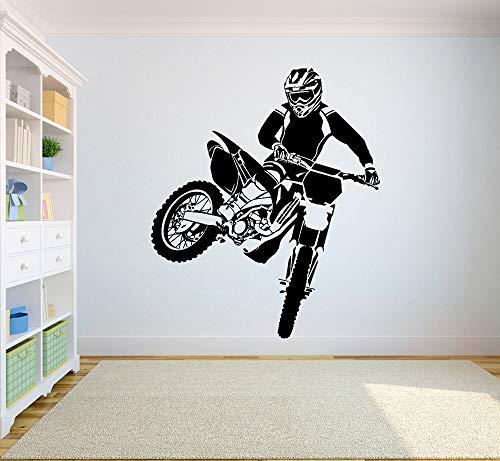 Baobaoshop Fototapete Motocross Dirt Bike Sticker Schlafzimmer Sport Dirt Bike Motorrad Personalisierte Jungen Teenager Zimmer 57x67cm