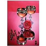 DIY 5D Diamond Painting Kits Copa de vino tinto 32x48in Square Drill de perforación completos Rhinestone Picture Art Craft para decoración de la Pared del hogar W-1770