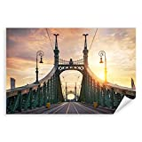Postereck - 2523 - Budapest, Brücke Ungarn Sonnenuntergang