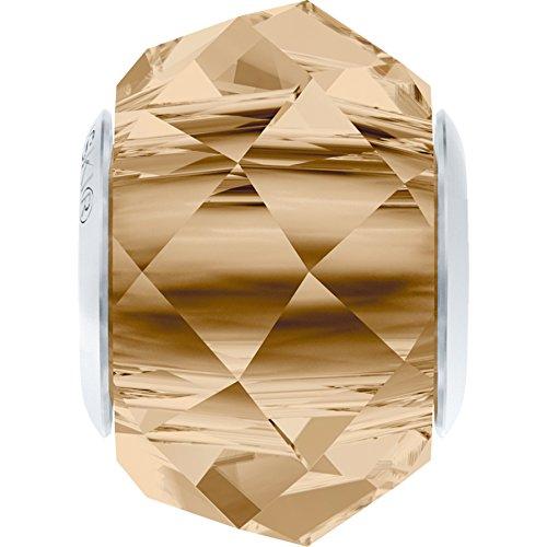 Cristaux de Swarovski 1184554 Perles Cristal 5948 MM 14,0 Crystal GOL.Shadow Steel, 12 Pièces