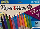 Paper Mate Flair, Felt Tip Limited Edition, 12Ct, Bold & Precise
