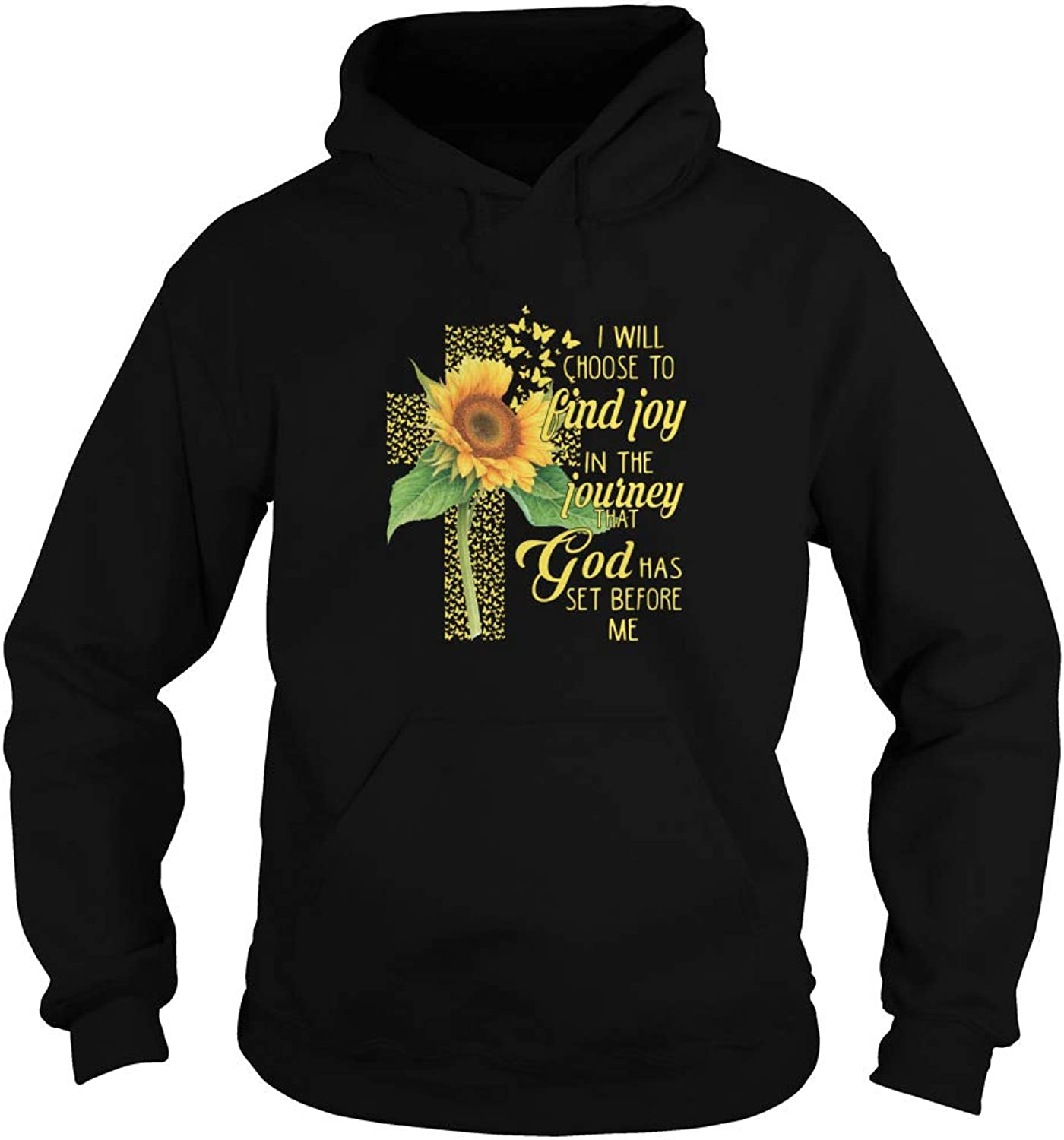 Sunflower Jesus I Will Choose to Find Joy in The Journey That God Has Set Before Me TShirt